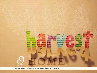 Harvest Home Xmas Catalog