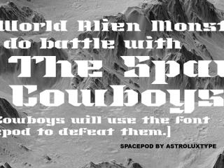 Spacepod Font